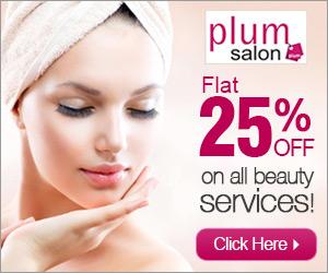 PLUM SALON -Flat 25% off on beauty services