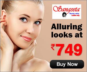 Sangeeta Beauty Salon -Alluring Loooks @ Rs 749