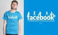 Facebook T-shirt with a fun slogan
