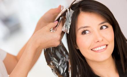 Rs 499 for global hair colour or hair streaking!