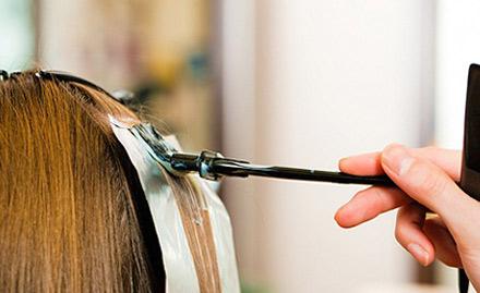 Get hair colour, hair wash and hair cut at Rs 549