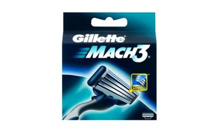 Get Rs 55 cashback on Gillette Mach3 (pack of 4 cartridges)