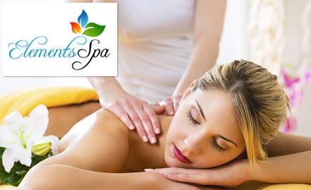 Full body massage, head massage & shower at Rs 909