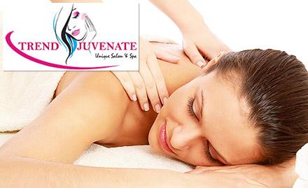 Trendjuvenate Salon & Spa Koramangala - 30% off on spa services. Choose from aroma therapy, Swedish, Lomi-lomi, deep tissue massage and more!