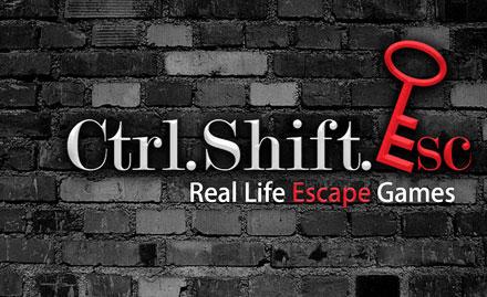 Ctrl.Shift.Esc Hauz Khas Village - 15% off on real life escape games. Valid at Hauz Khas Village & Gurgaon!
