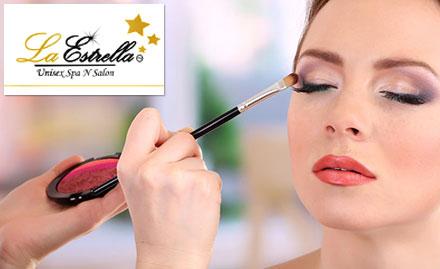 La Estrella Unisex Spa N Salon Saket - Party makeup absolutely free with pre bridal package!