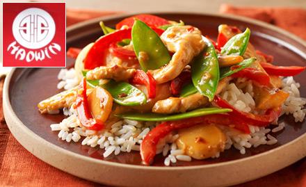 20% off on food bill. Enjoy stir fried chicken, fried rice & more!