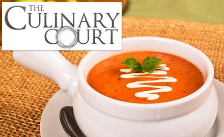 20% off on food bill. Relish salads, soups, paneer tikka, fish and more!