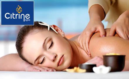 55% off on choice of body massage!