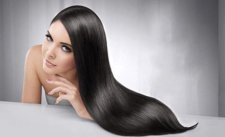 Rs 2199 for hair rebonding, smoothening or straightening!